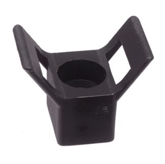 Support mural noir / Black saddle type wall tie mount