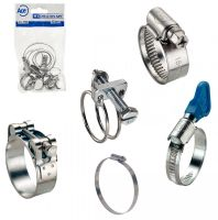 Stainless steel clamps and ties